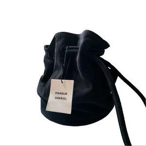 NWT Mansur Gavriel Bucket Bag Black Suede
